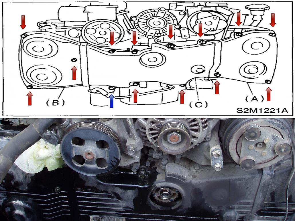 How Tos Timing Belt And Water Pump Replacement Diagrams